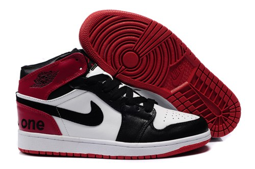 2013 Air Jordan 1 Retro Homme Chaussure High Cut For Winter Outlet Noir Red blanc