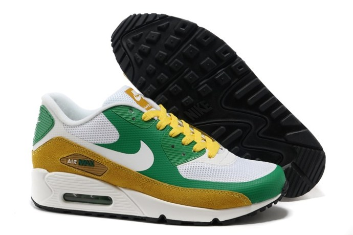 pas cher Sale Air Max 90 Hyperfuse Homme Chaussure Fur en ligne Shopping Green blanc Or