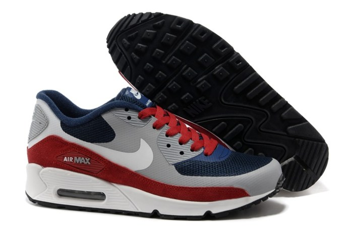 pas cher Sale Air Max 90 Hyperfuse Homme Chaussure Fur en ligne Shopping Grey Bleu Red