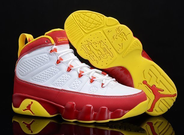 Chrismas Gift Edition Air Jordan 9 IX Retro Homme Chaussure en ligne Discount Red blanc Yellow