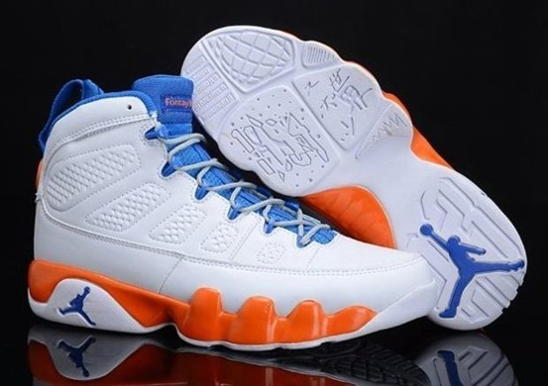 Chrismas Gift Edition Air Jordan 9 IX Retro Homme Chaussure en ligne Discount blanc Orange
