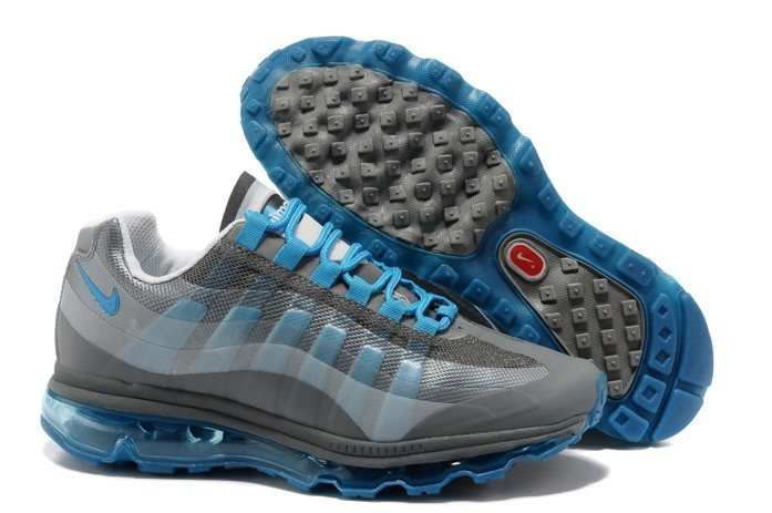 Designer Nike Air Max 95 360 Homme Chaussure Grey Bleu for Winter