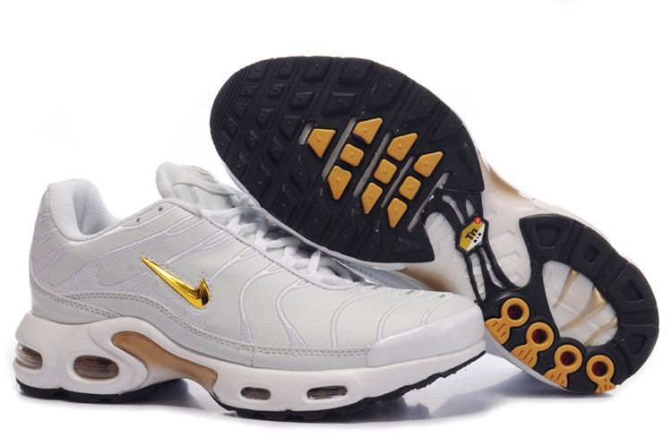Discount Air Max TN I Homme Chaussure Or blanc