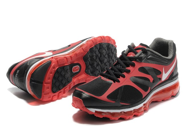 Discount Outlet Air Max 2012 Homme Chaussure Breathable For Sale Noir Red