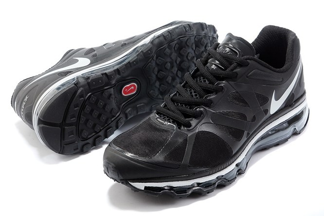 Discount Outlet Air Max 2012 Homme Chaussure Breathable For Sale Noir blanc