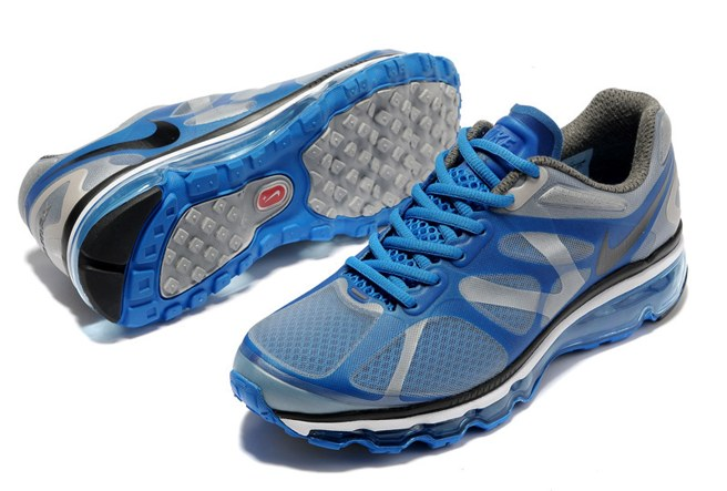 Discount Outlet Air Max 2012 Homme Chaussure Breathable For Sale Bleu Grey