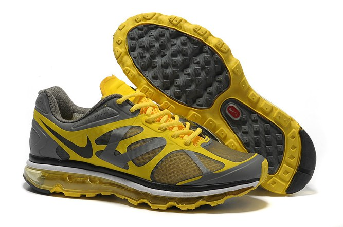 Discount Outlet Air Max 2012 Homme Chaussure Breathable For Sale Grey Yellow