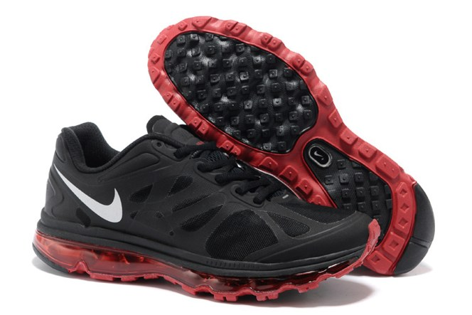Discount Outlet Air Max 2012 Homme Chaussure Breathable en vente Noir Red blanc