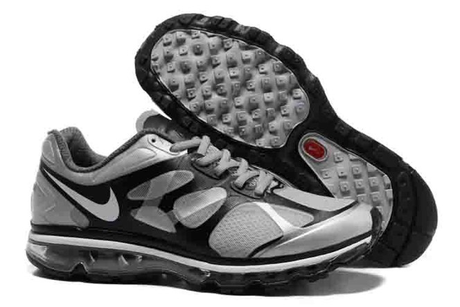 Discount Outlet Air Max 2012 Homme Chaussure Breathable en vente Grey Noir