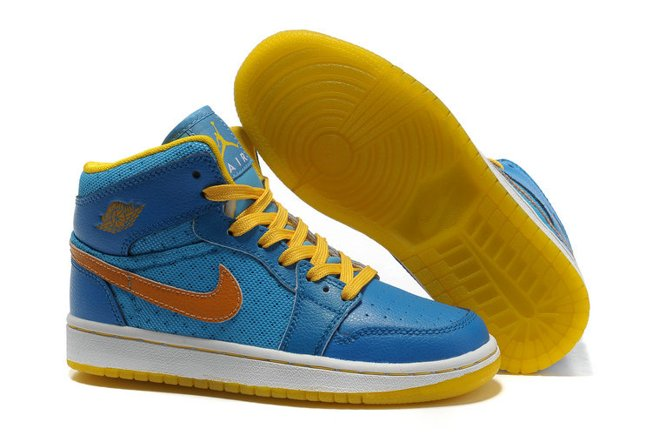 HOt New Air Jordan 1 I Phat Femme Chaussure Bleu Yellow