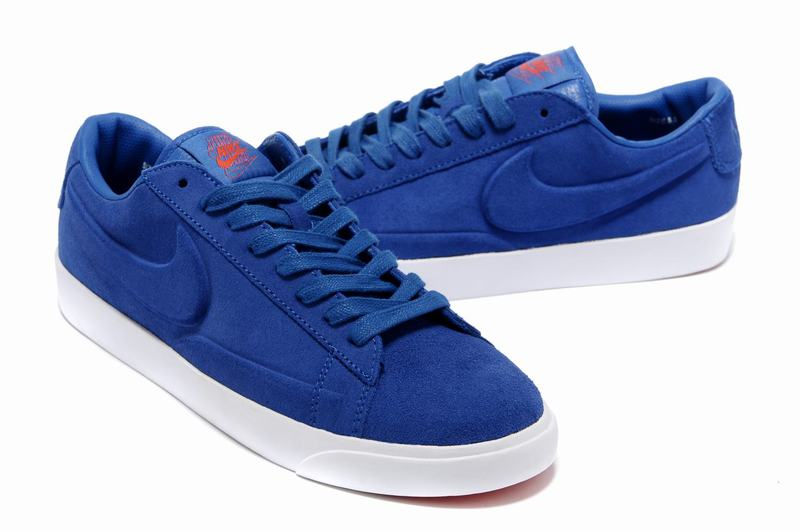 Homme Nike Blazers Suede Bas Chaussure All Bleu