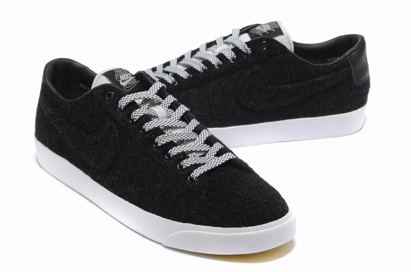 Homme Nike Blazers Suede Bas Chaussure Noir Blanc