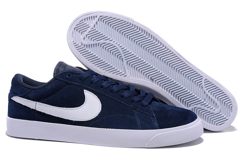 Homme Nike Classic Ac ND Suede Sombre Bleu Blanc