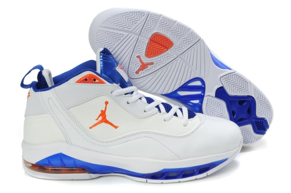 Jordan Melo M8 Baseball Chaussures Blanc/Bleu/Orange