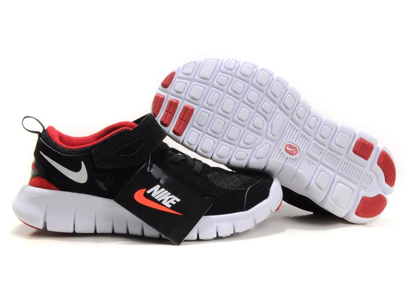reputable site 6d728 5159b Enfants Free Rouge Run Nike Nike00620 Blanc Noir r5q1rx