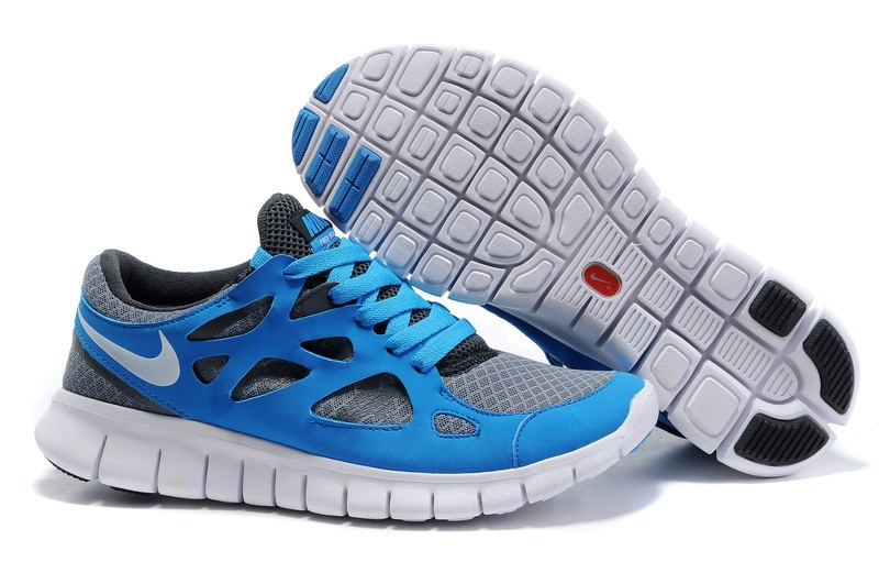 Hommes Nike Free Run 2.0 gray Chaussures SkyBleu