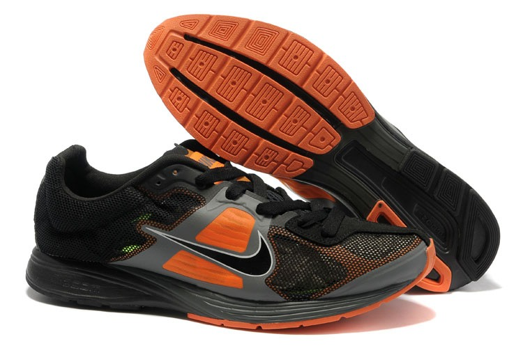Hommes Nike Free Run Noir Orange