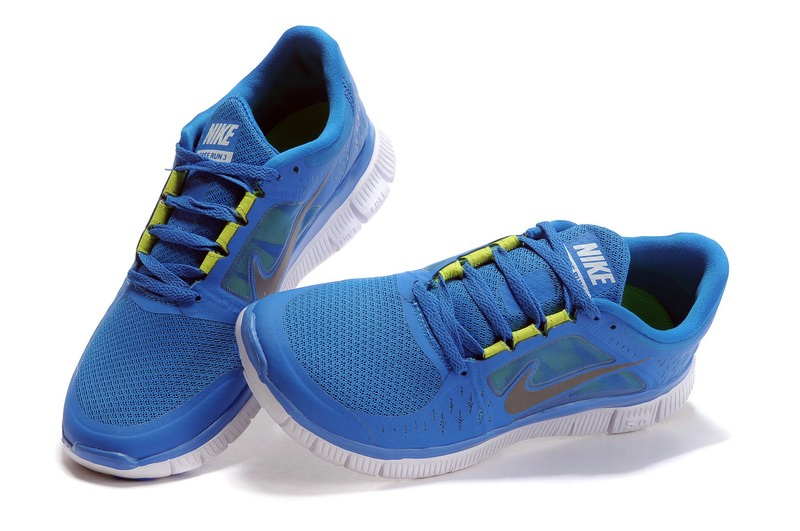 Hommes Nike Free Run 3 Chaussures bleues