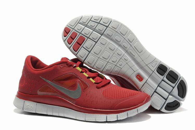 Homme Rouge Nike Free Run 3 Chaussures