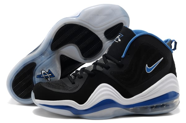 Chaussures de basket-ball Nike Air Foamposite One V Noir/Blanc/Bleu
