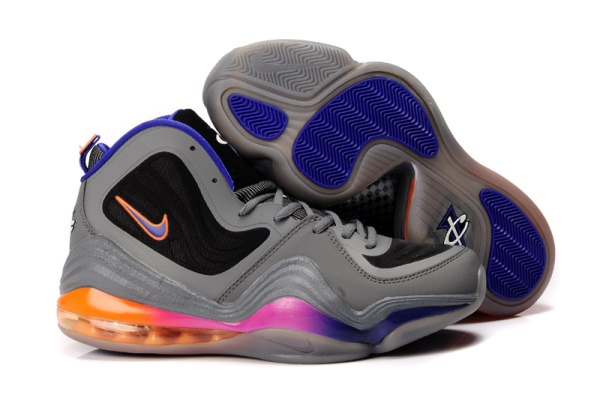 Chaussures de basket Nike Air Foamposite One V gray/noir/orange/bleu