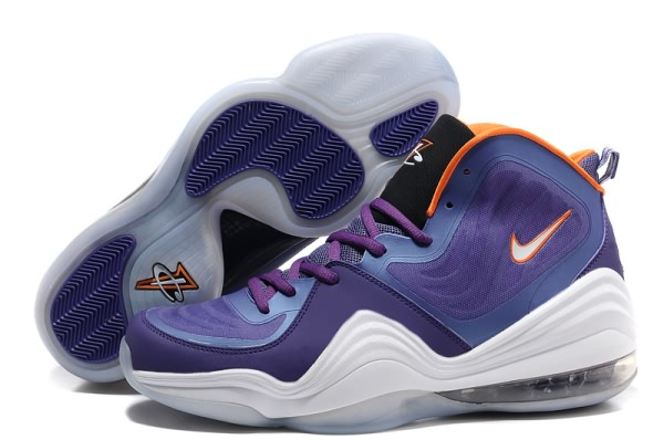 Chaussures de basket-ball Nike Air Foamposite One V Violet/Orange