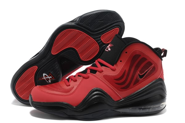 Chaussures de basket-ball Nike Air Foamposite un V rouge/noir