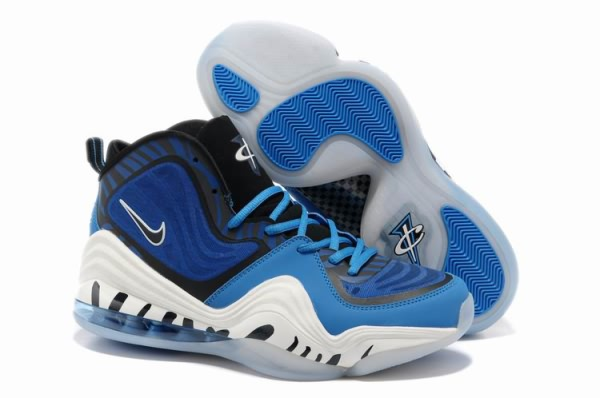 Chaussures De Basket Nike Air Foamposite Blanc One V Bleu Royal Blanc Foamposite 95d61f