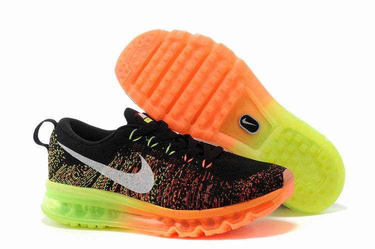 8002 Nike Air Max 2014 Noir et Vert Orange