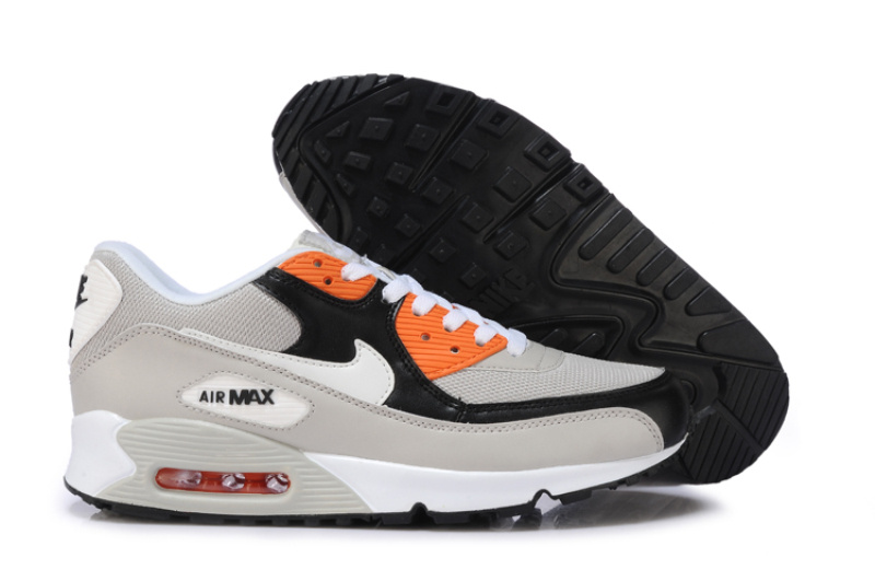 Nike Air Max 90 Blanc Noir Gris et orange