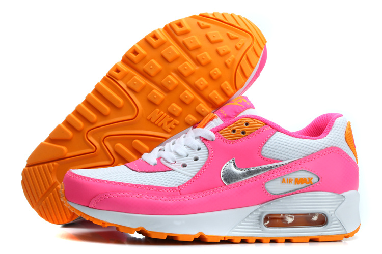 hot sale online adda4 05622 Nike Air Max 90 femmes 2014 vente chaude Blanc Rose Argent  Nike00244  -  €59.98   Air Max, Nike Site Officiel