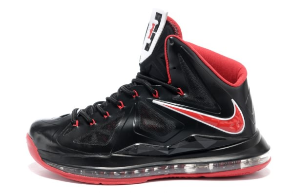 Nike Air Max LeBron James 10 Chaussures de basket-ball Noir/Rouge