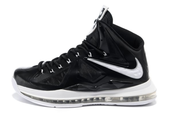 Nike Air Max LeBron James 10 Chaussures de basket Noir/Blanc