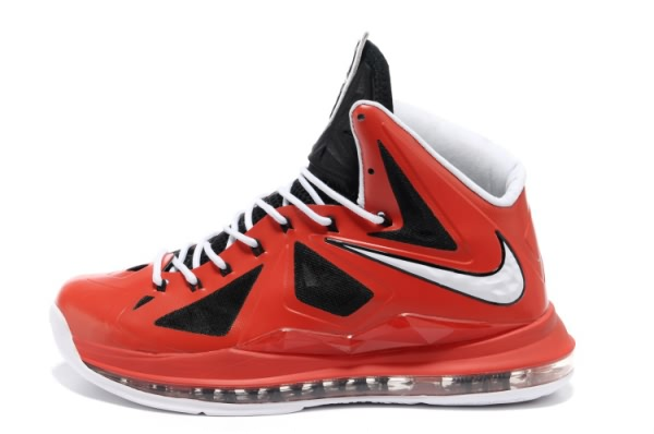 Nike Air Max LeBron James 10 Chaussures de basket-ball Rouge/Noir