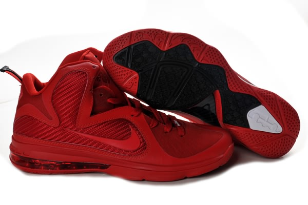 online store b9409 eed83 Nike Air Max LeBron James 9 Tous les Chaussures de basket-Rouge Description