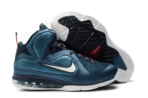 Nike Air Max LeBron James allures de 9 Chaussures de basket-ball Blanc