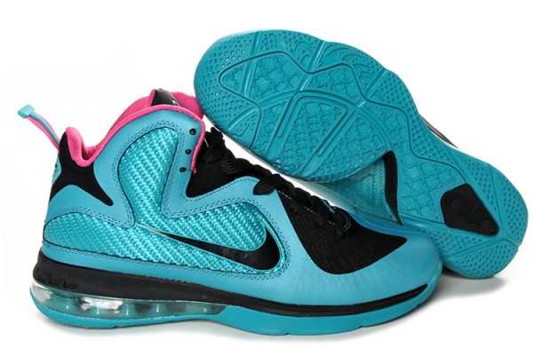 Nike Air Max LeBron James 9 vert/rouge/noir Chaussures de basket-ball