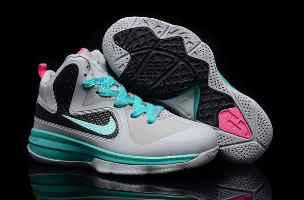 Chaussures Nike Air Max LeBron James 9 gray/Lune enfants