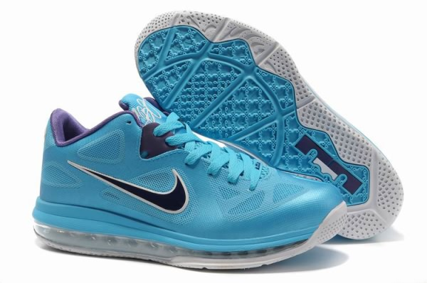 Nike Air Max LeBron James bas du 9 Bleu/Violet Chaussures de basket