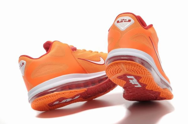 Nike Air Max LeBron James bas du 9 orangeblanc Chaussures