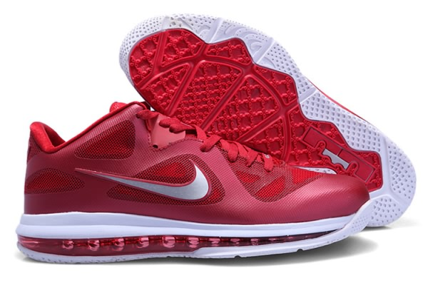 Nike Air Max LeBron James bas du 9 Chaussures de basket-Rouge/Blanc