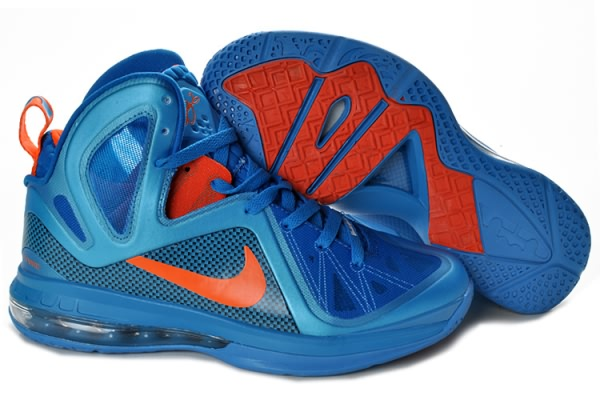 Nike Air Max LeBron James 9 Chaussures de basket PS Bleu