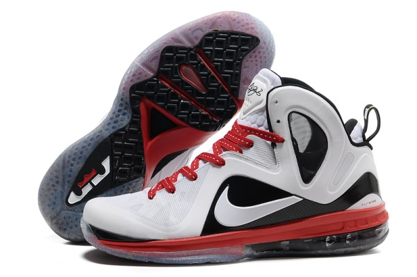 Nike Air Max LeBron James 9 Chaussures de basket-Rouge PS