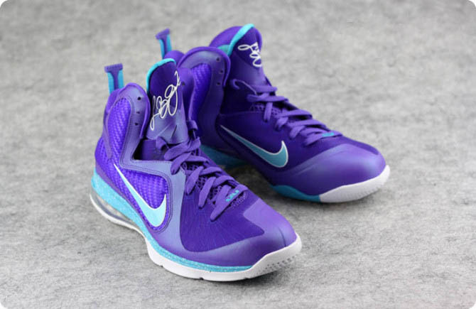 Nike Air Max LeBron James 9 Violet/Lune Chaussures de basket-ball