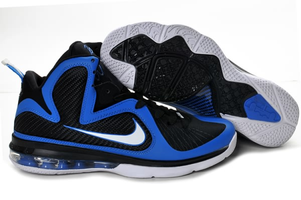 Nike 9 Air Max Lebron James 9 Nike Bleu Royal Noir Chaussures De Basket 2a1dd5