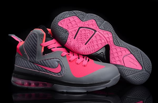 Chaussures de basket Nike Air Max LeBron James 9 femmes gray/Rose