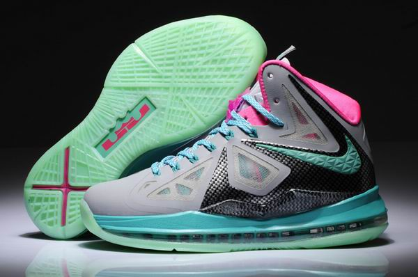 Nike Air Max LeBron James X 10 Chaussures Femmes gray/Lune/Rose
