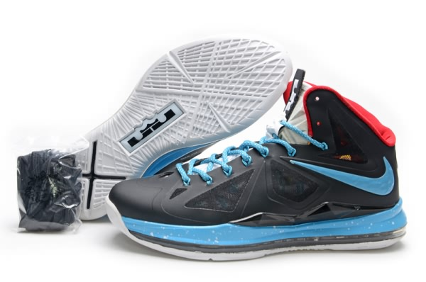 Nike Air Max LeBron James X 10 commanditaires Noir/Lune Chaussures Basketball