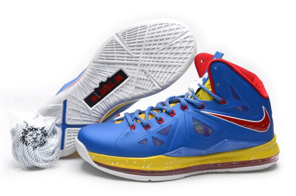 Nike Air Max LeBron James X 10 commanditaires Bleu/Rouge Chaussures de basket