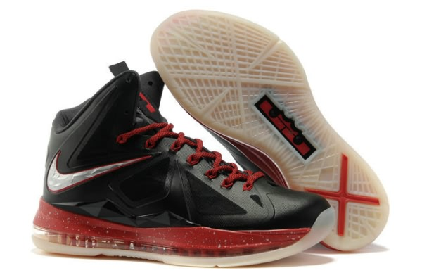 competitive price db0b4 870be Nike Air Max LeBron James X 10 Miami Noir Silver Chaussures Basketball  Description